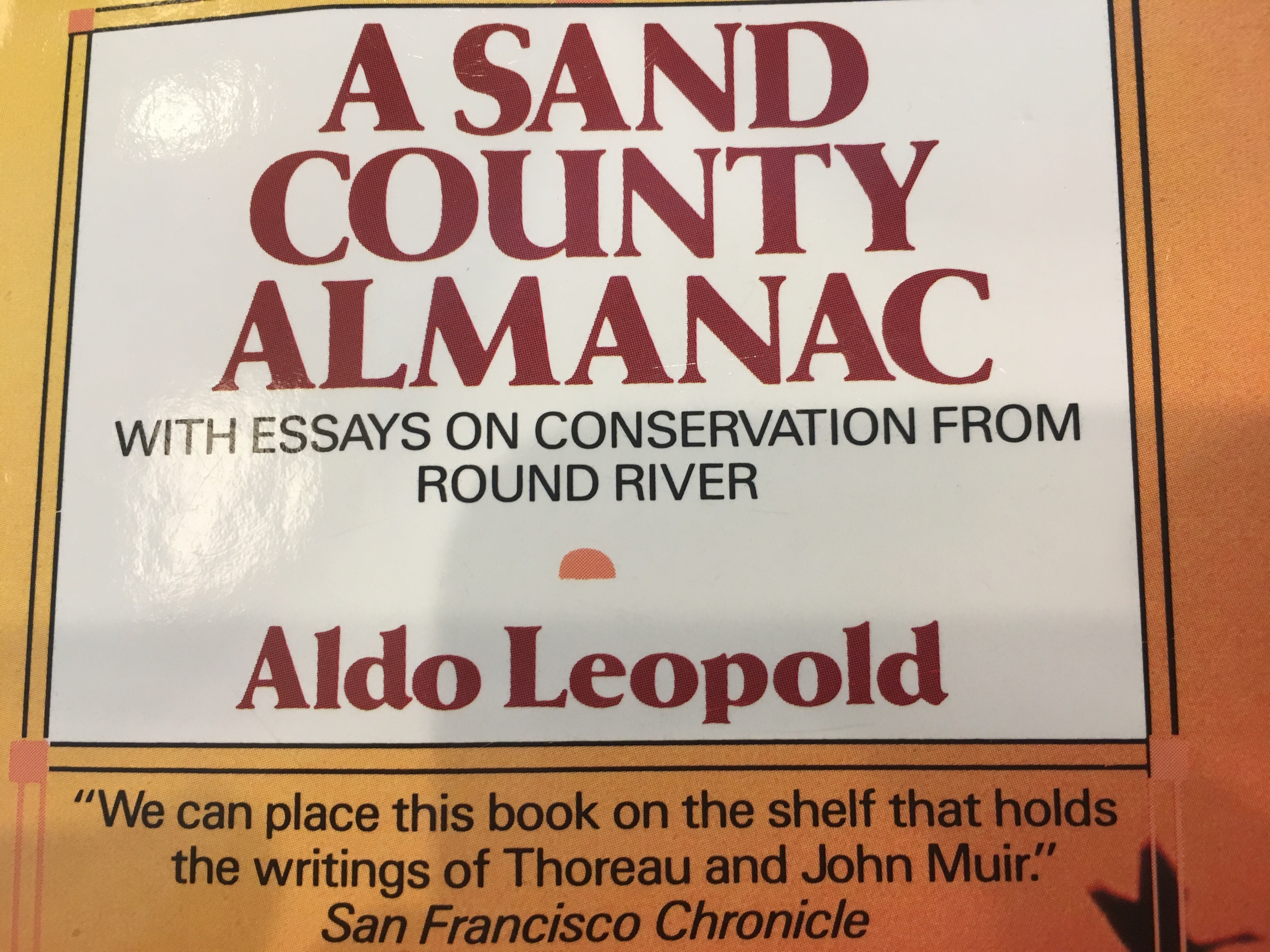 a sand county almanac outdoor essays and reflections Synnopsis : [ by leopold, aldo ( author ) a sand county almanac: with essays on conservation from round river dec-12-1986 mass market 5 clik here to download book [recommendation] sand county almanac (outdoor essays reflections) by aldo leopold free.